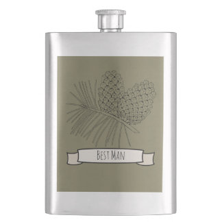 Pine Branch Two Hip Flask