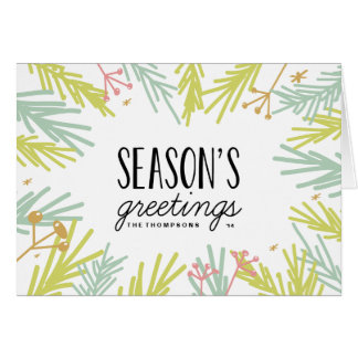 Pine Burst Holiday Greeting Card