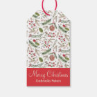 Pine Christmas Birds | Gift Tags
