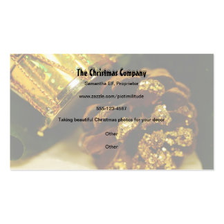 Pine Cone and Drum Christmas Business Card