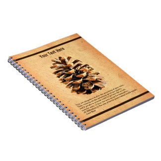 Pine Cone And John Muir Quote Notebook