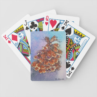 Pine Cone Artwork Bicycle Playing Cards