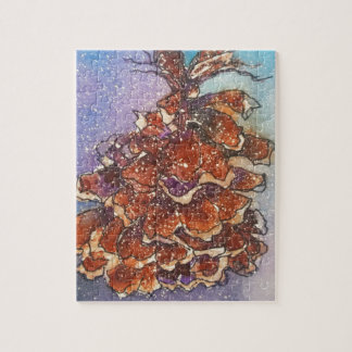 Pine Cone Artwork Jigsaw Puzzle