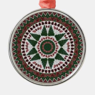 Pine Cone Christmas Mandala Ornament