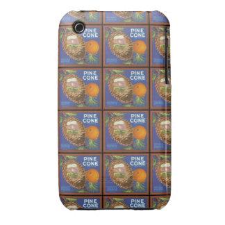 Pine Cone Citrus Crate Label iPhone 3 Covers