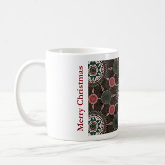 Pine Cone Mandala Array Christmas Mug