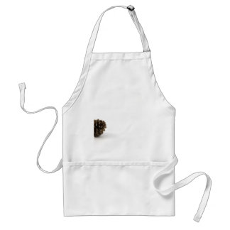 Pine Cone On White Background Aprons
