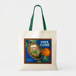 Pine Cone Oranges Budget Tote Bag