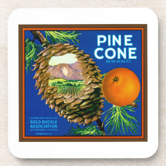 Pine Cone Oranges Coasters