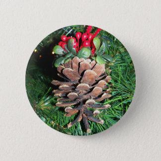 Pine Cone Ornament Button