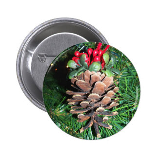 Pine Cone Ornament Button