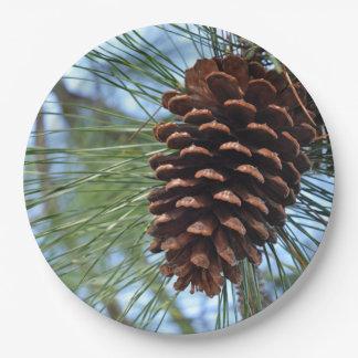 Pine Cone Paper Plate