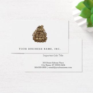 Pine Cone (Ponderosa) Business Card