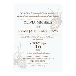 Pine Cone Silhouette Wedding 11 Cm X 16 Cm Invitation Card