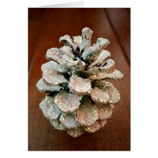 Pine Cone Sparkle Card