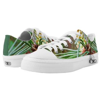 Pine cone tree brach printed shoes