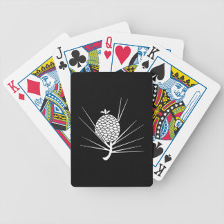 Pine cone with needles bicycle playing cards