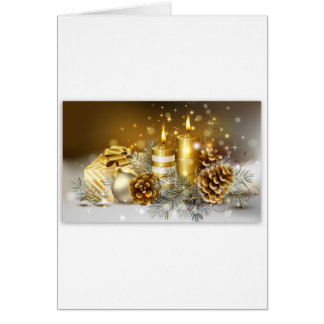 Pine Cones and Christmas Candles Cards