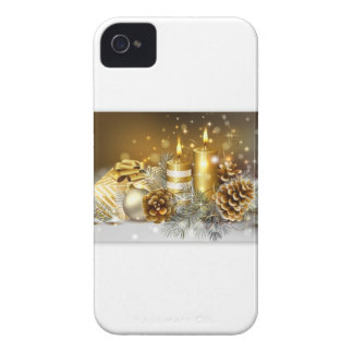 Pine Cones and Christmas Candles iPhone 4 Case-Mate Case