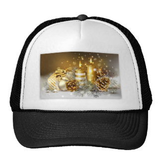 Pine Cones and Christmas Candles Hat