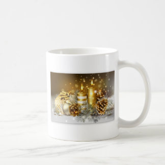 Pine Cones and Christmas Candles Coffee Mug