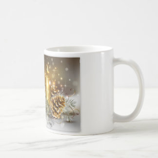 Pine Cones and Christmas Candles Coffee Mugs