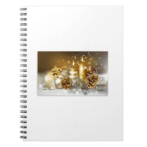 Pine Cones and Christmas Candles Notebook