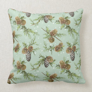 Pine cones Christmas pattern - Christmas gifts Throw Pillow