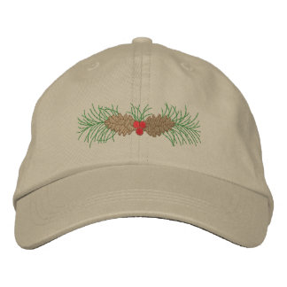 Pine Cones Embroidered Baseball Cap