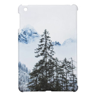 Pine Forest againts Winter iPad Mini Cover