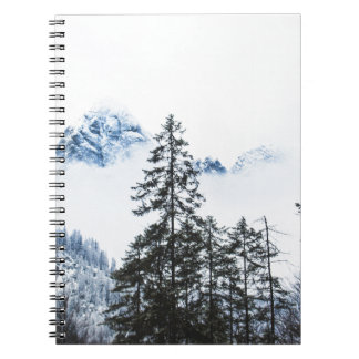 Pine Forest againts Winter Notebook