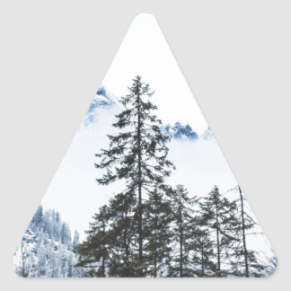 Pine Forest againts Winter Triangle Sticker