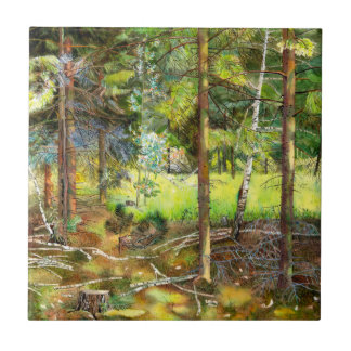 Pine forest ceramic tile