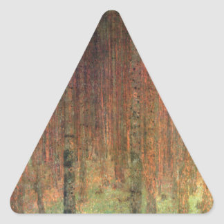 Pine Forest II cool Triangle Stickers