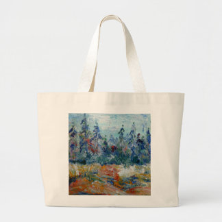Pine forest large tote bag