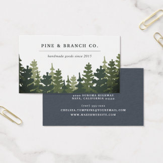 Pine Forest Logo Business Card
