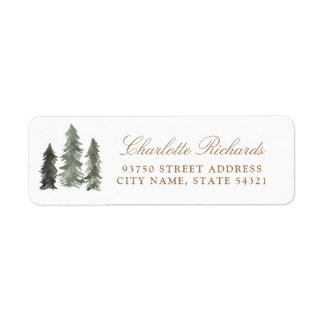 Pine Forest Return Address Label