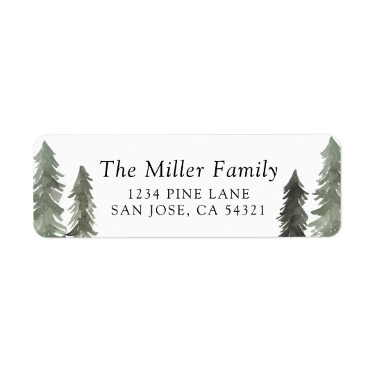 Pine Forest Return Address Label