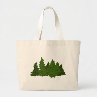 Pine Forest Jumbo Tote Bag