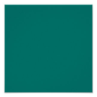 Pine Green Classic Colored Posters