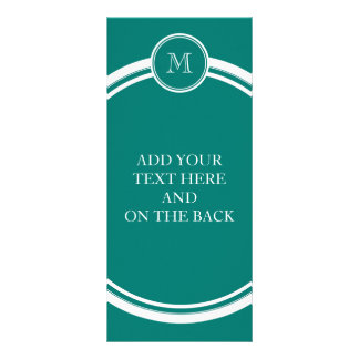 Pine Green High End Colored Monogrammed Full Color Rack Card