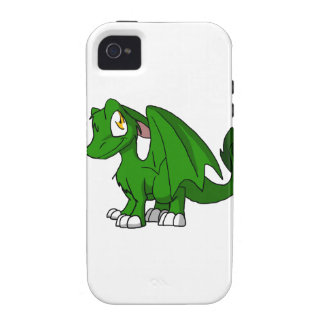 Pine Green SD Furry Dragon Case-Mate iPhone 4 Cover