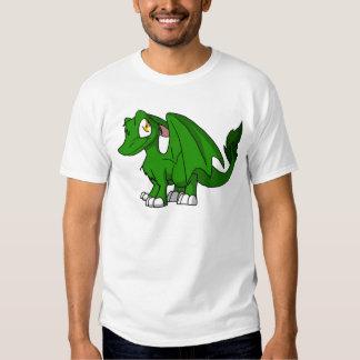 Pine Green SD Furry Dragon Tee Shirts