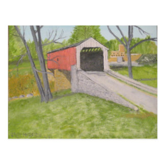 Pine Grove Covered Bridge II - Lancaster Postcard