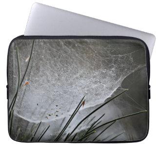 Pine Needles Spider Web Nature Photography Art Laptop Sleeve