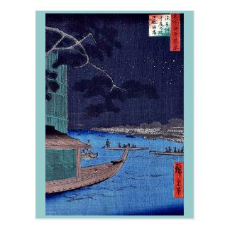 Pine of success,Asakusa River by Andō,Hiroshige Postcard