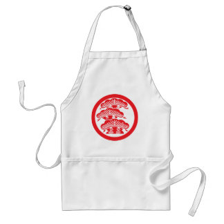 Pine (red) adult apron