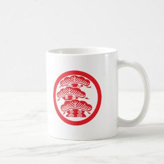 Pine (red) basic white mug