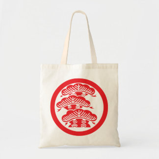 Pine (red) budget tote bag