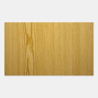 Pine Texture Rectangular Sticker